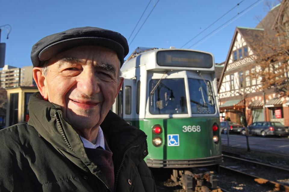 Oscar Epstein rides the Green Line to work at the state's Highway Division.