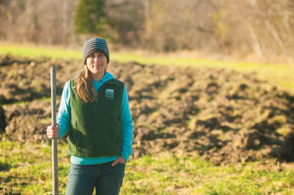 Molly DellaRoman will over- see the return of farming at Moose Hill Farm in Sharon.
