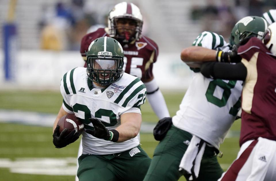 Ohio's Beau Blankenship (22) rushed for 104 yards and had an Independence Bowl-record four touchdowns.