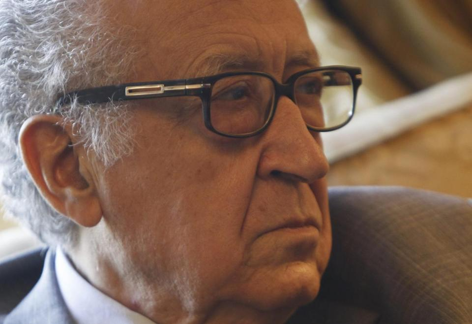 Lakhdar Brahimi said that as many as 100,000 people could be killed in Syria in the next year.