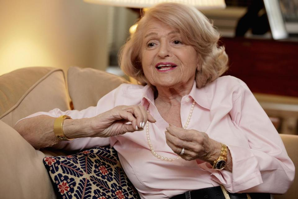 Edith Windsor, 83, was interviewed recently in her New York apartment about her gay marriage benefits lawsuit, which the US Supreme Court has agreed to decide.