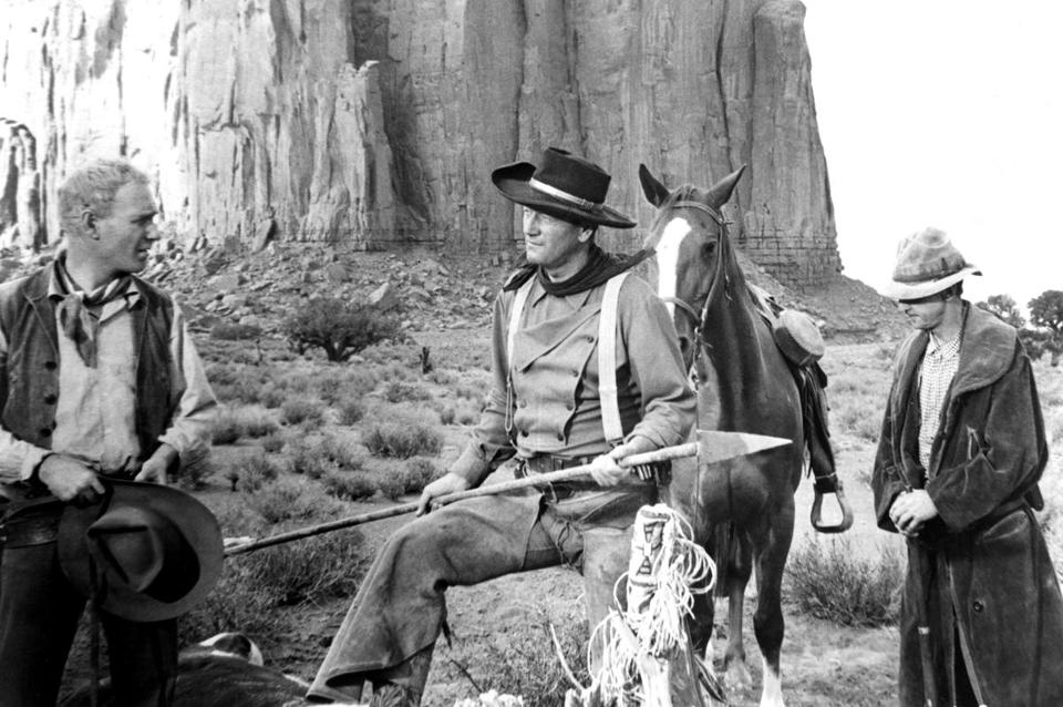 "Harry Carey Jr. (left) with John Wayne in the John Ford classic ""The Searchers."""