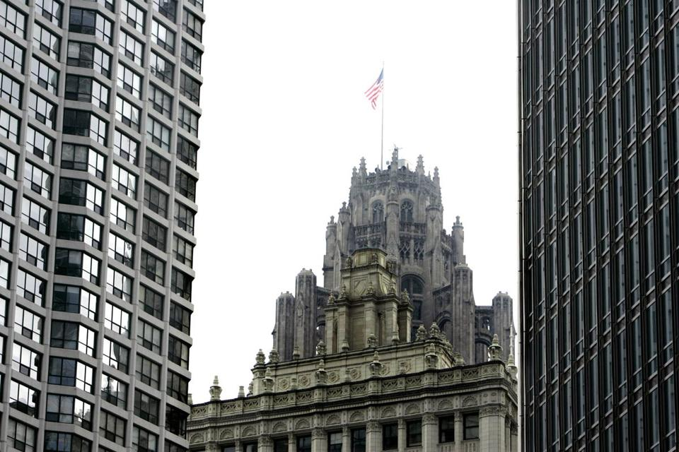 The Chicago Tribune building. The Tribune Co.'s assets include The Los Angeles Times and The Chicago Tribune.