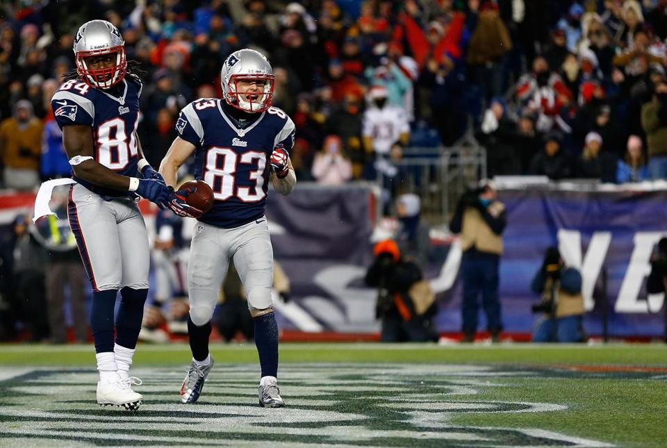 Wes Welker scored in the first quarter. After the game, he said the team's upcoming bye week would allow players to get healthy and prepare for their next game on Jan. 13.