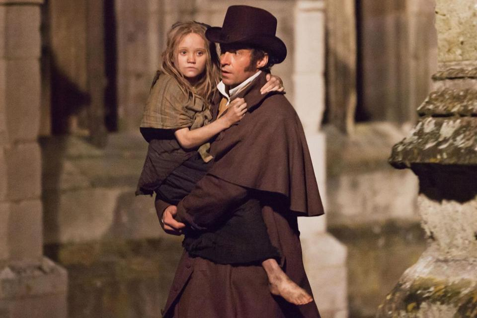Hugh Jackman plays Jean Valjean in the film adaptation of Les Miserables.