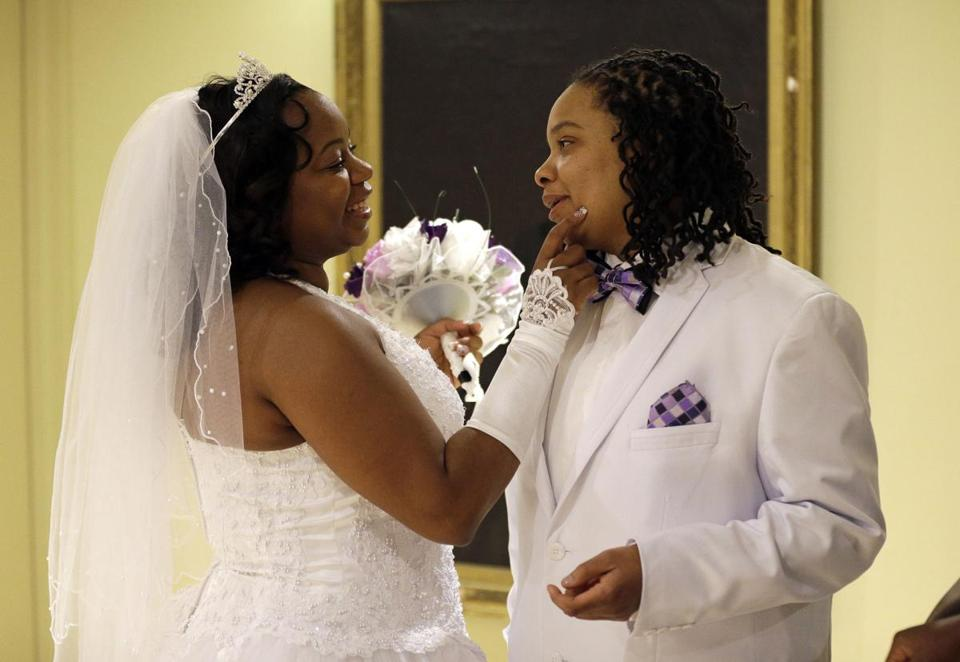Darcia Anthony and Danielle Williams married in Baltimore. Gay marriage passed narrowly in November.
