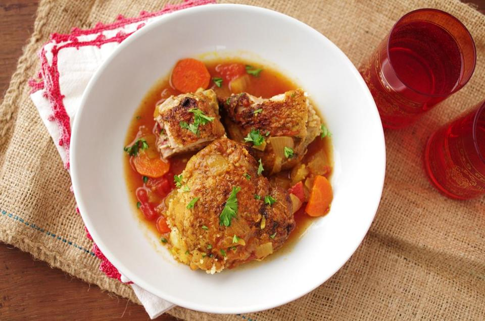 North African chicken stew.