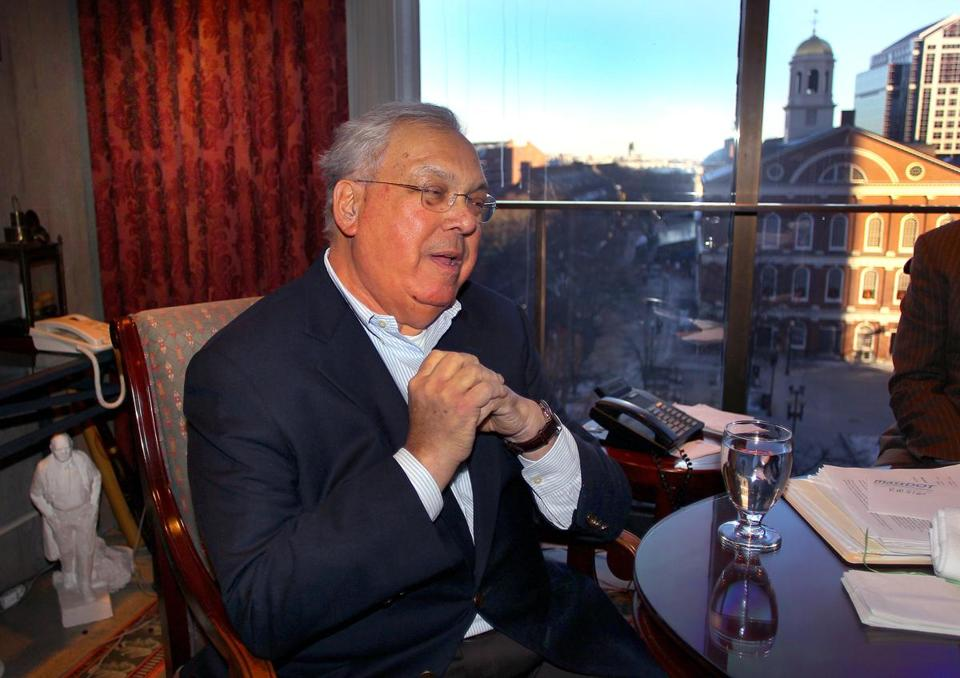 Mayor Thomas M. Menino was hospitalized for five weeks after falling ill during a trip to Italy with his wife.