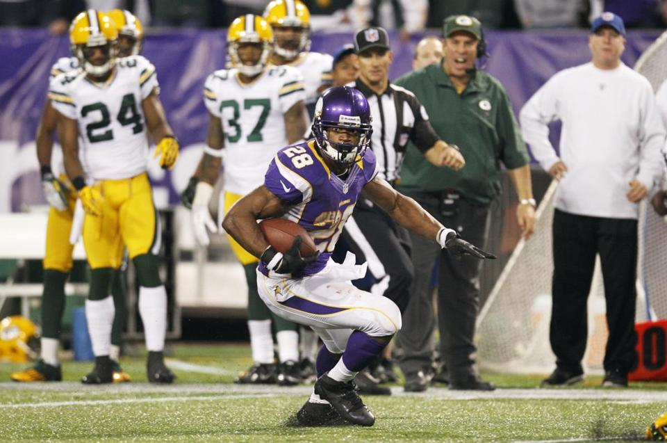 Adrian Peterson led the Vikings past the Packers last Sunday. Can he do it again?