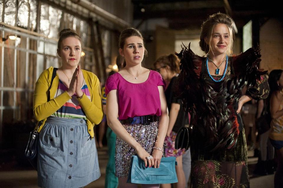 "Lena Dunham, Zosia Mamet, and Jemima Kirke in ""Girls."""