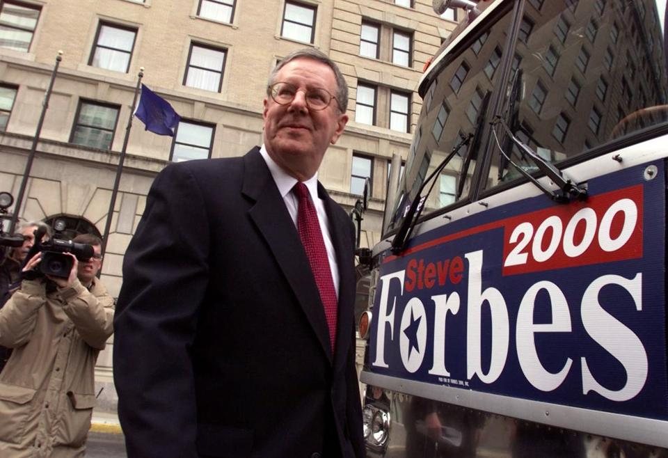Steve Forbes served as president of the Brooks School's board of trustees at the time.