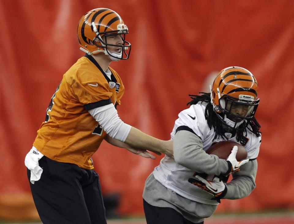 Andy Dalton (left) and BenJarvus Green-Ellis have helped carry the Bengals to three straight victories.