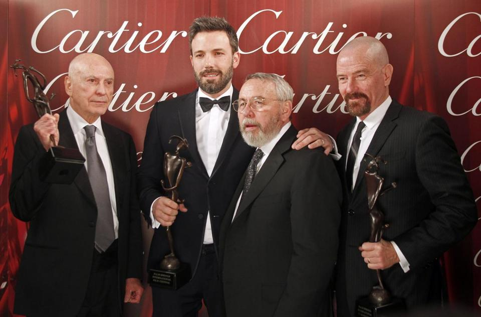 From left: Alan Arkin, Ben Affleck, Tony Mendez, and Bryan Cranston at the Palm Springs film festival gala.