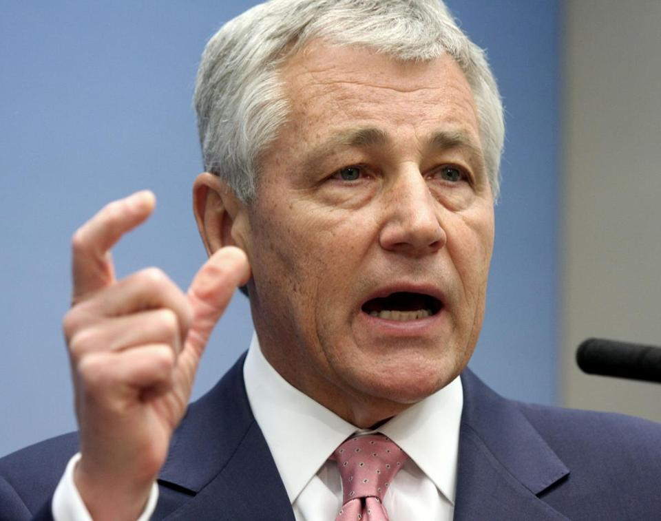 Then-Senator Chuck Hagel, R-Neb., is seen in this June 26, 2008, photo.