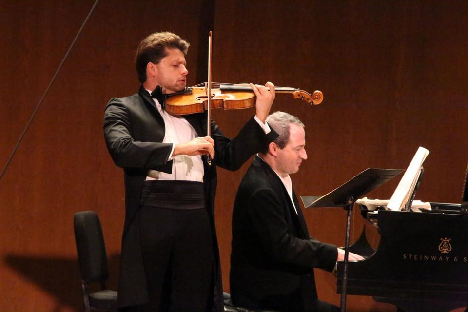 Julian Rachlin, violinist,  with Itamar Golan, pianist.