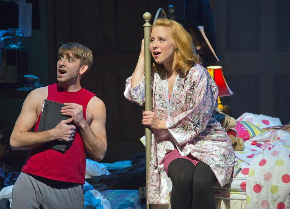 "Phil Tayler and Erica Spyres in the New Repertory Theatre's production of ""Marry Me a Little.''"