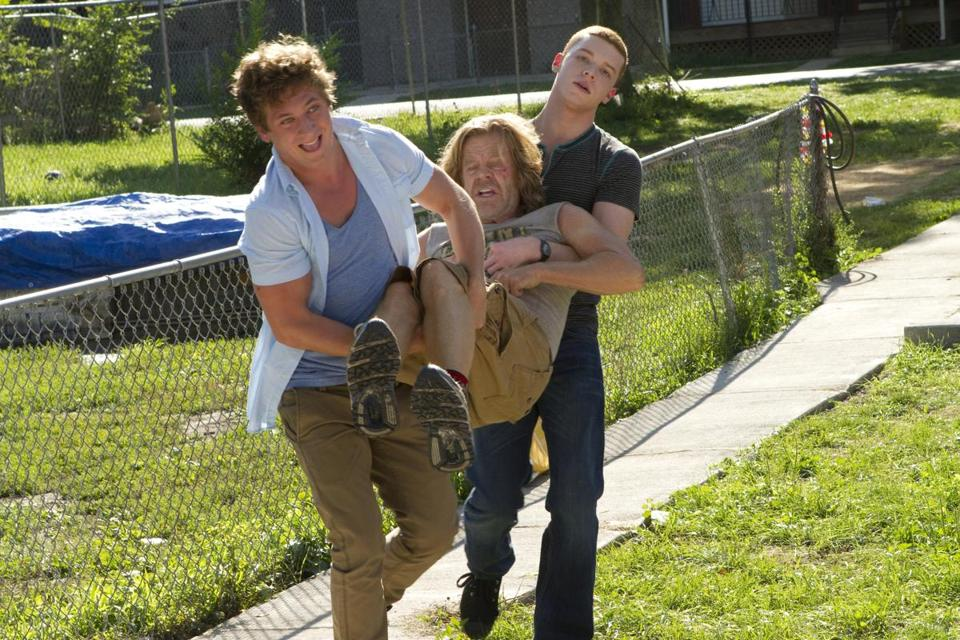 "From left: Jeremy Allen White, William H. Macy, and Cameron Monaghan star in ""Shameless."""