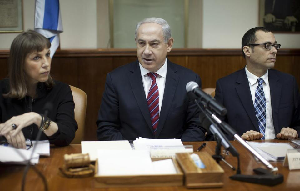 Benjamin Netanyahu, heading a meeting of his Cabinet Sunday, said that the Syrian army had moved away from the Golan Heights region and jihadist forces had moved in.