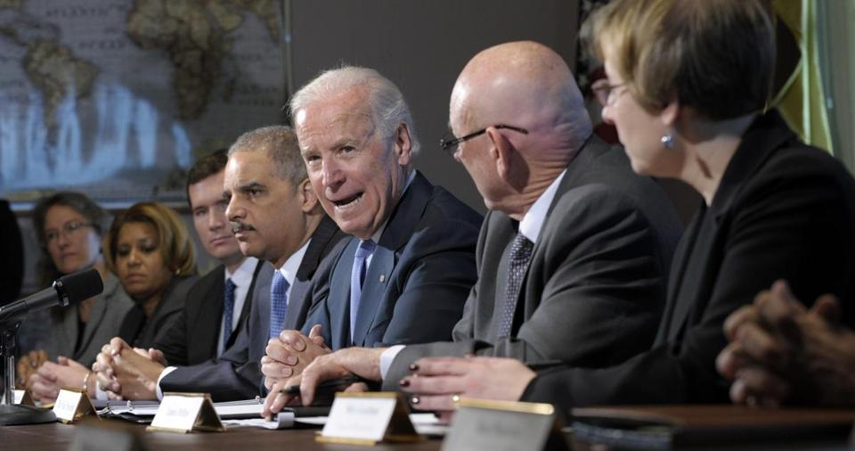 Vice President Joe Biden met with victims groups and gun safety organizations in Washington on Wednesday.