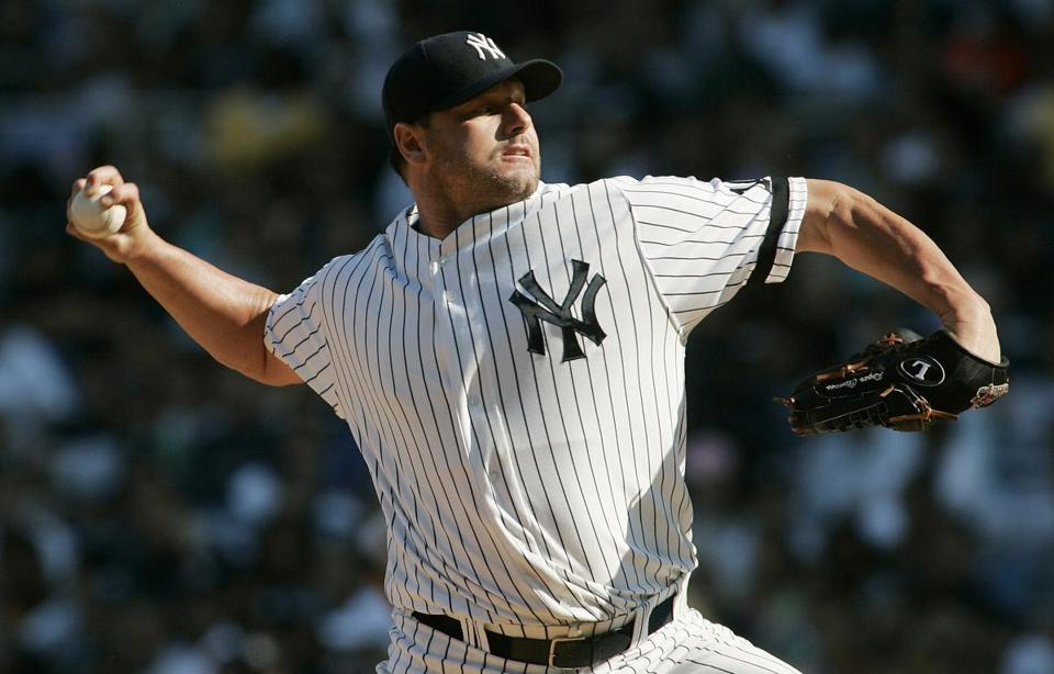 Former New York Yankees starting pitcher Roger Clemens Aug. 18, 2007. No one was elected to the Baseball Hall of Fame on Wednesday, with all-time home run leader Barry Bonds and seven-time Cy Young winner Roger Clemens snubbed over suspicion they used performance enhancing drugs.