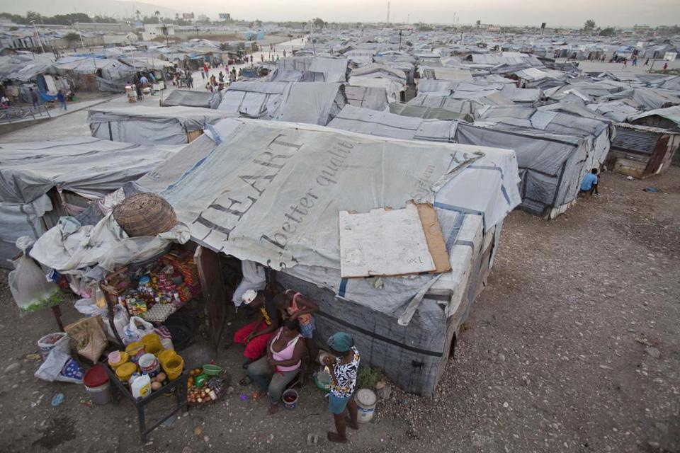 Tent cities have been established in and near Port-au-Prince for those displaced by the 2010 earthquake in Haiti.