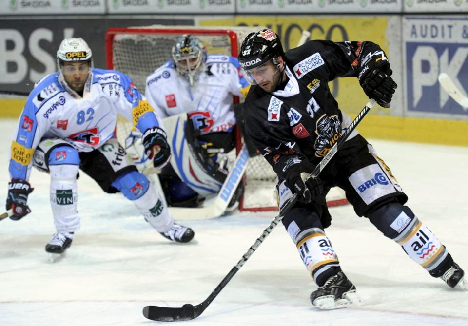 Patrice Bergeron had 11 goals and 18 assists in 21 games for HC Lugano.