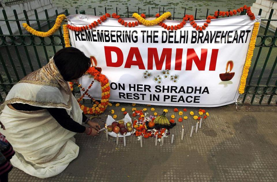 Several shrines, including this one in Gauhati, have been created across India to remember the victim of the rape.