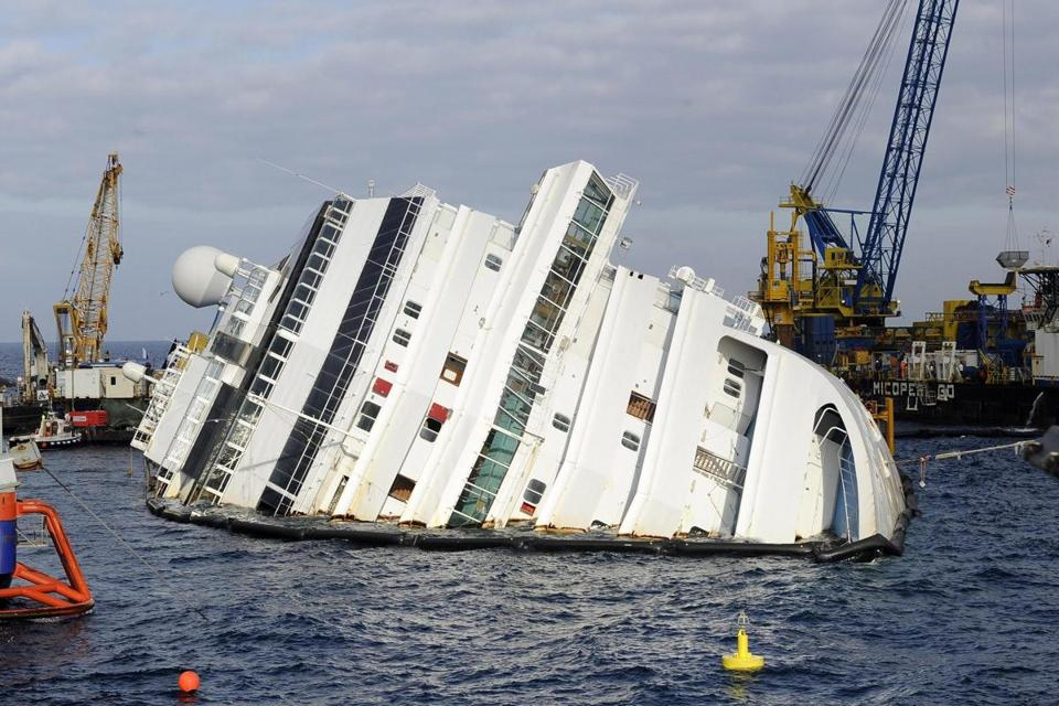 Authorities must assess how to drain the Costa Concordia in order to remove it.