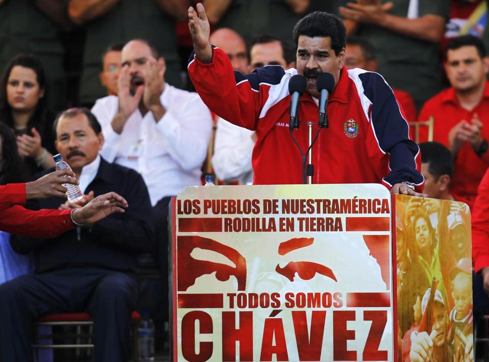Vice President Nicolas Maduro spoke at a rally in support of President Hugo Chavez in Caracas on Jan. 10.