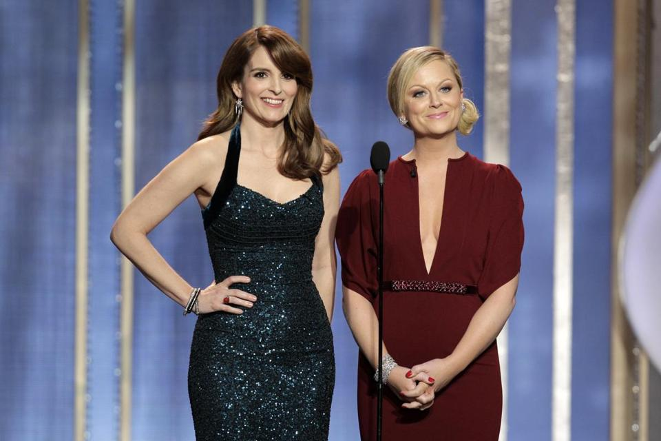 Tina Fey and Amy Poehler were hosts of the Golden Globes.