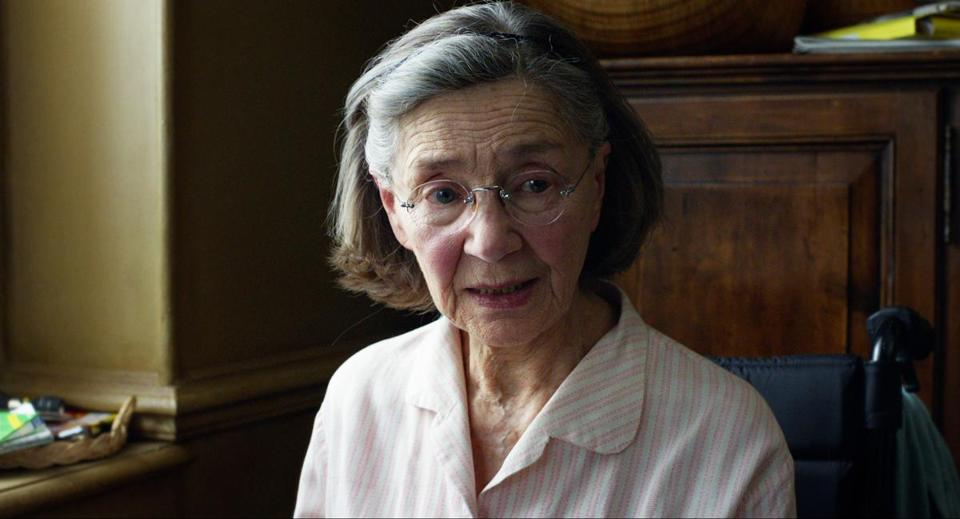 "Emmanuelle Riva in a scene from ""Amour."""