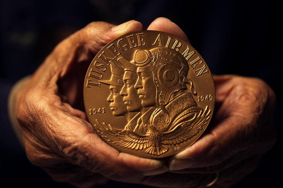 This medal was received during a Congressional Gold Medal Award Ceremony, in the Capitol, on March 29, 2007. Eugene Jackson, 89, was a mechanic with the Tuskegee Airmen.