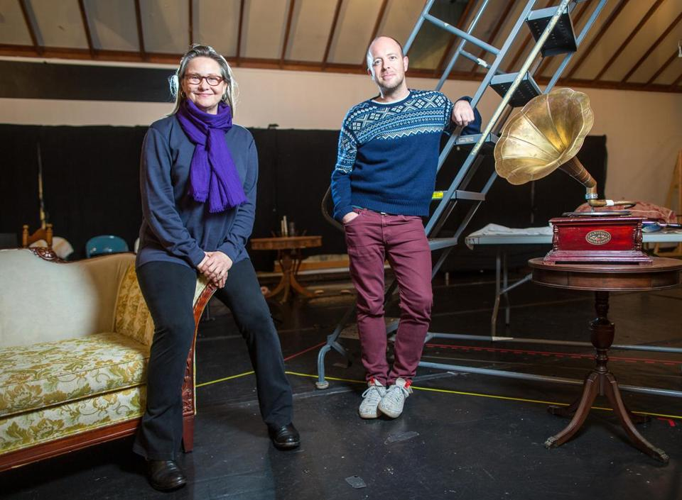 "Cherry Jones and director John Tiffany at Zero Church Street last month preparing for ""Glass Menagerie,"" which opens Saturday at ART's Loeb Drama Center."