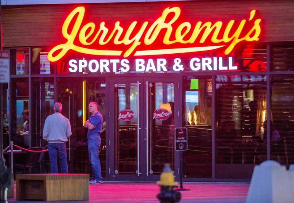Jerry Remy's Sports Bar & Grill in the Seaport was one of the bars cited by regulators.