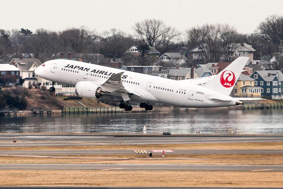 A Japan Airlines flight took off from Boston early this month.