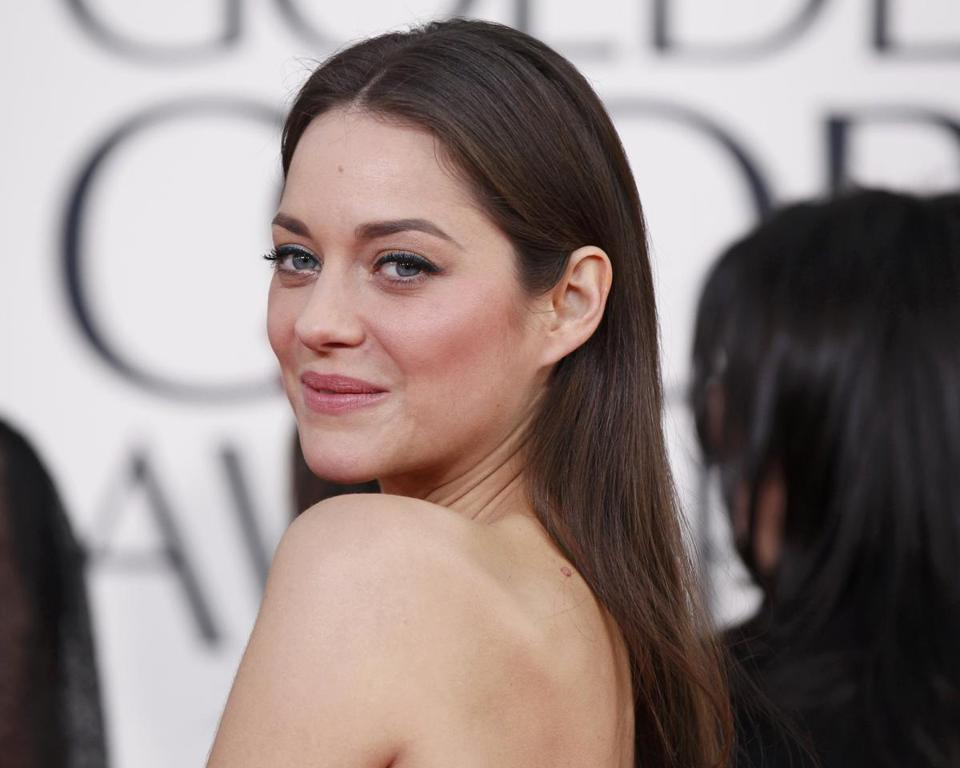 "Actress Marion Cotillard, from the film ""Rust and Bone,"" at this year's Golden Globe Awards."