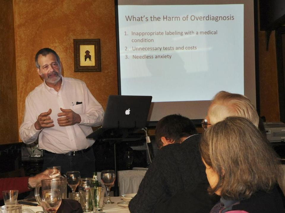 Dr. Richard Sagall spoke about medical overdiagnosis and misdiagnosis at a recent meeting.