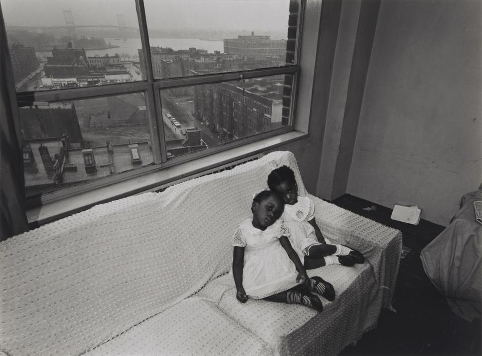 """Untitled [Children on Couch With East 100th Street out the Window],''"