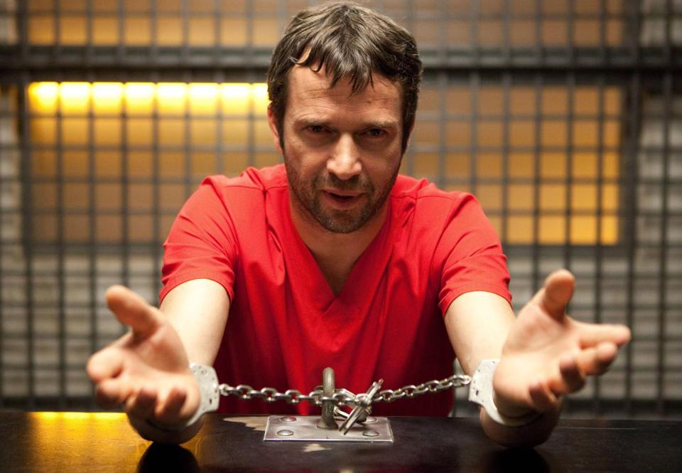 "James Purefoy plays a jailed serial killer who has a cult that carries out his violent wishes outside in Fox's ""The Following.''"