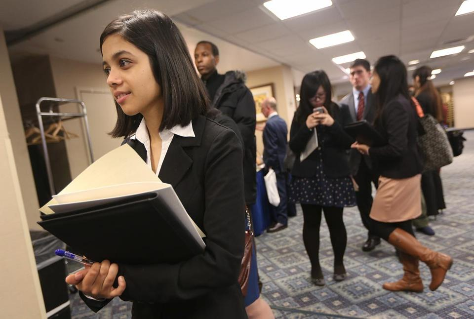 Dipti Sharma was job hunting as weekly claims for unemployment aid slid to a 5-year low.