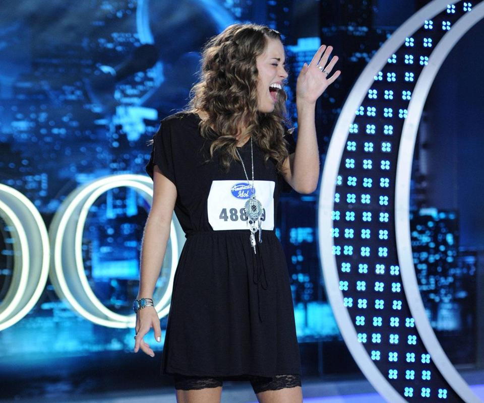 Beverly's Angela Miller appearing on 'American Idol.' premiere.