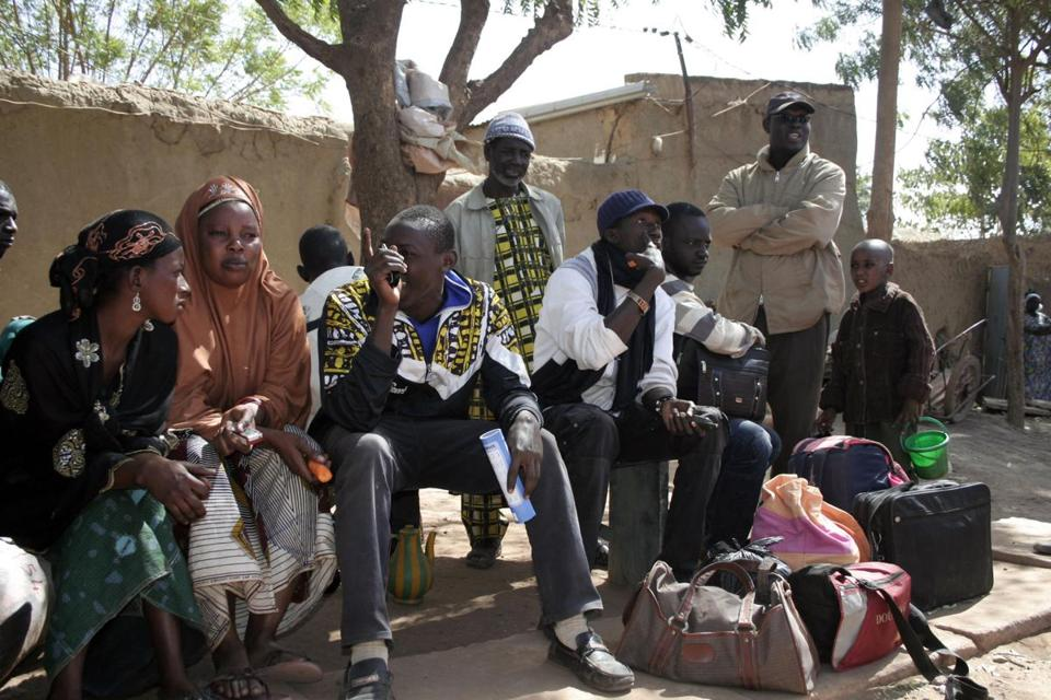 A group of Malians fled on foot from Diabaly, a village at the center of an attack by French and Malian forces on Wednesday. The Islamist fighters had seized Diabaly on Tuesday.