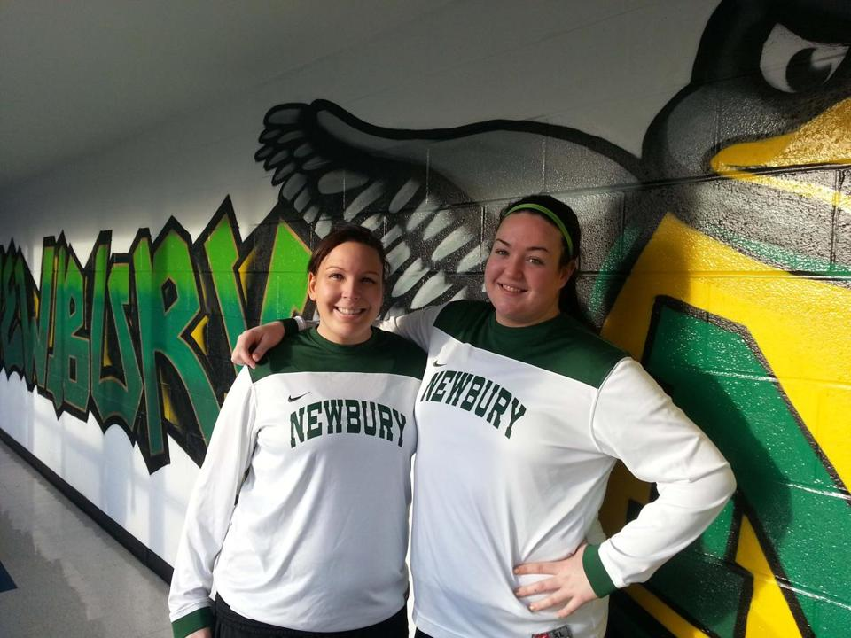 Elyse and Catherine O'Connell of Newbury College women's basketball team are making their mark.