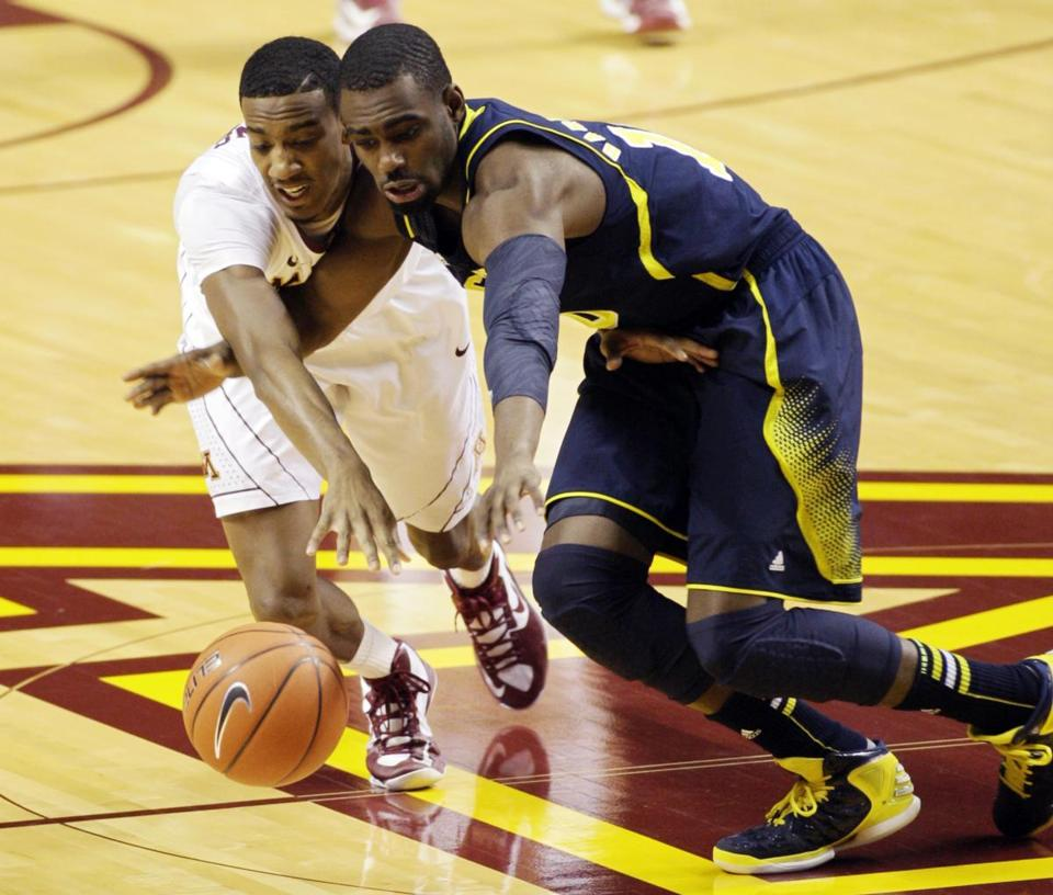 Michigan guard Tim Hardaway Jr. (right) scored a team-high 21 points to seal the victory for the Wolverines.