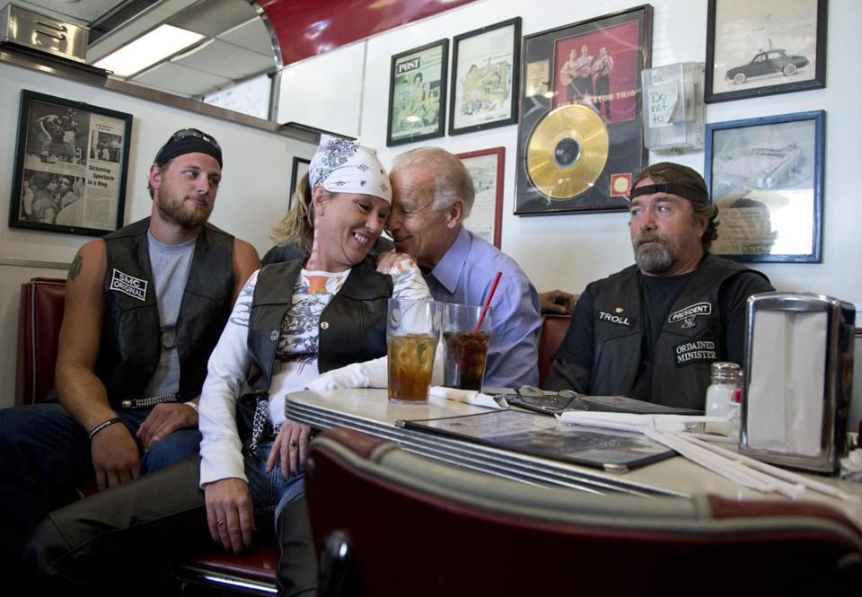 Biden seemed quite at ease during a September campaign stop at Cruisers Diner in Seaman, Ohio.