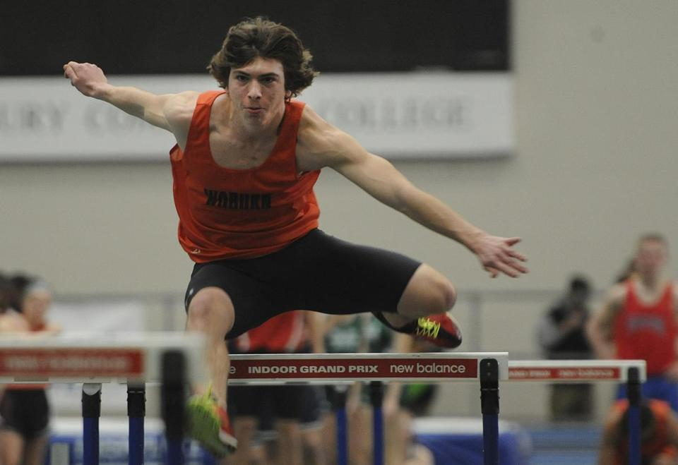 Nick Dalton and the Woburn boys' track team set a meet record.