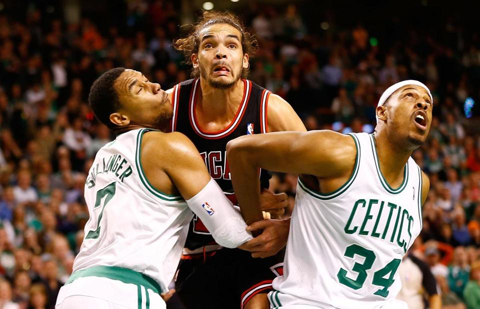 Paul Pierce and the Celtics suffered a demoralizing 100-99 overtime loss to Joakim Noah's Bulls.
