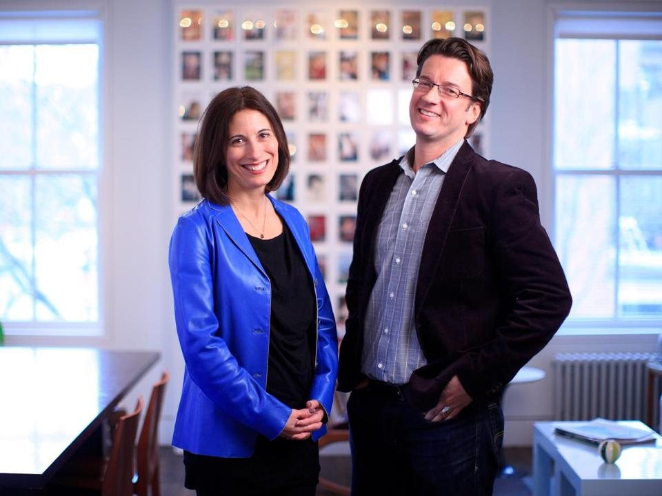 Susan Battista and Fritz Klaetke of Visual Dialogue creative agency.