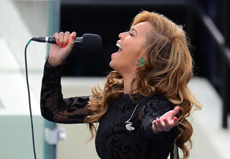 Beyonce performed the National Anthem at President Obama's second inauguration.