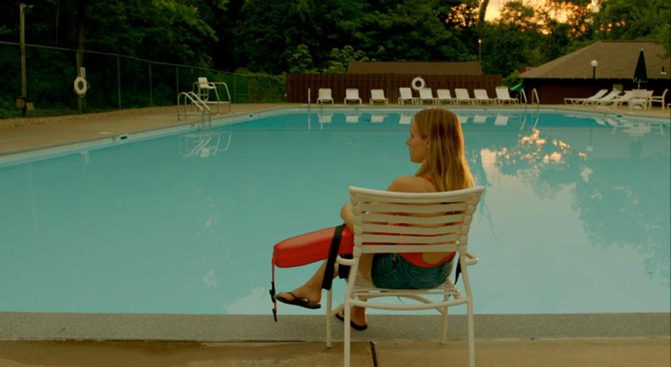 """The Lifeguard"" stars Kristen Bell as a New York reporter who returns to Connecticut and her former job at the community pool."